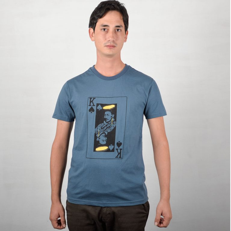 King Of Spades Blue T-shirt Front
