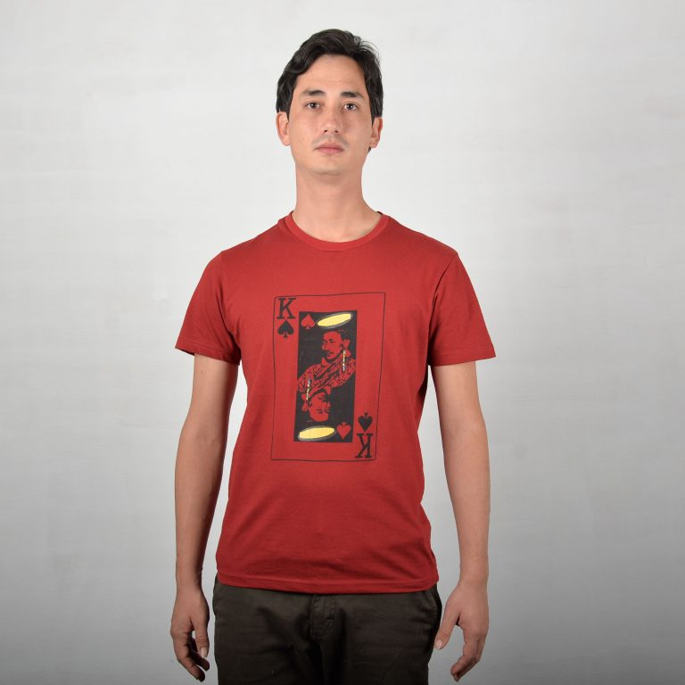 King Of Spades Red T-shirt Front
